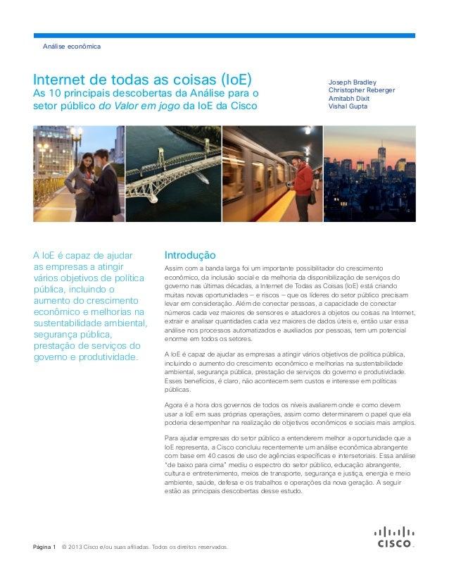 Análise econômica  Internet de todas as coisas (IoE)  As 10 principais descobertas da Análise para o setor público do Valo...