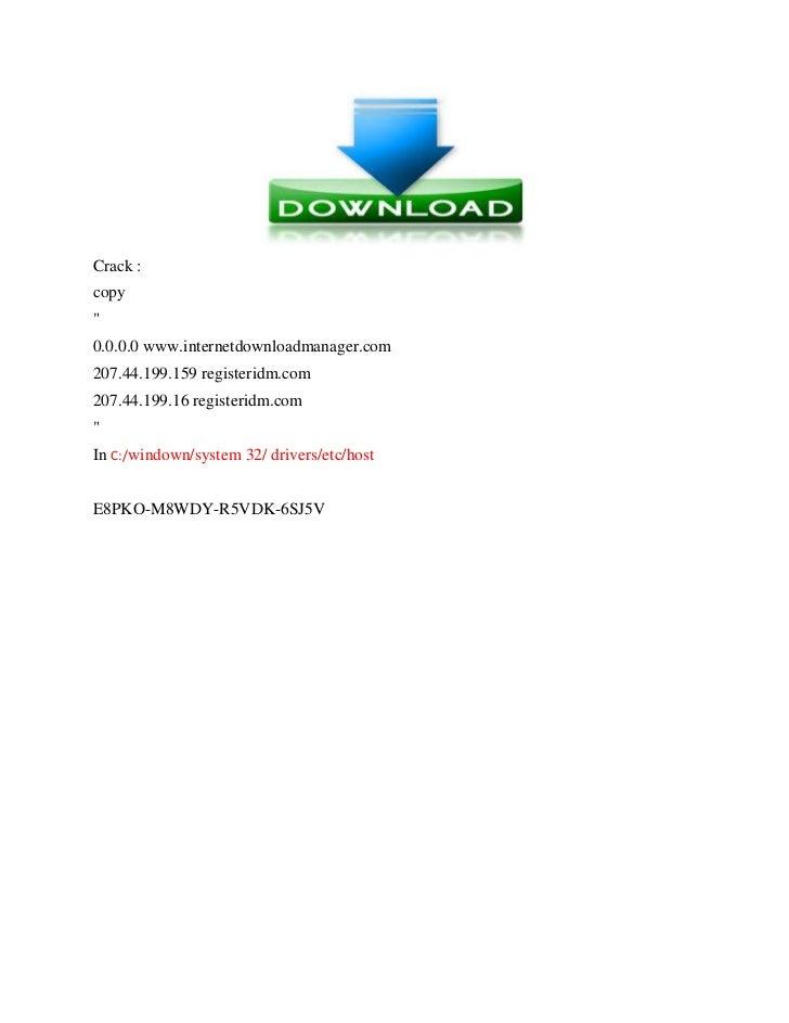 internet download manager 6.25 key