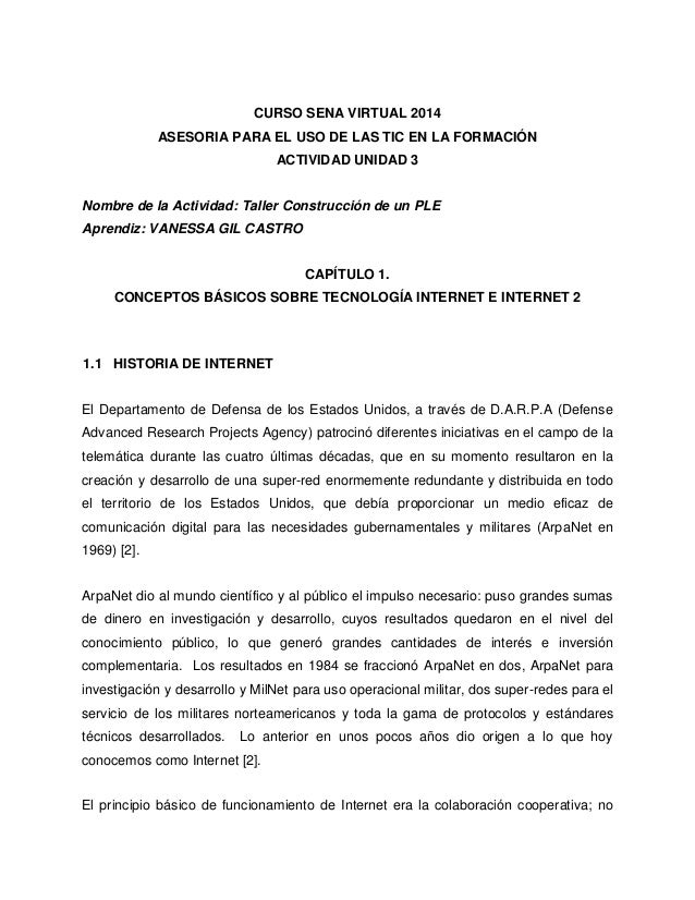 CURSO SENA VIRTUAL 2014  ASESORIA PARA EL USO DE LAS TIC EN LA FORMACIÓN  ACTIVIDAD UNIDAD 3  Nombre de la Actividad: Tall...