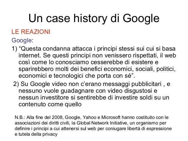 """LE REAZIONI Google: 1) """"Questa condanna attacca i principi stessi sui cui si basa internet. Se questi principi non venisse..."""