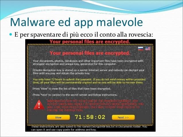 Malware ed app malevole  Infine la richiesta di riscatto: