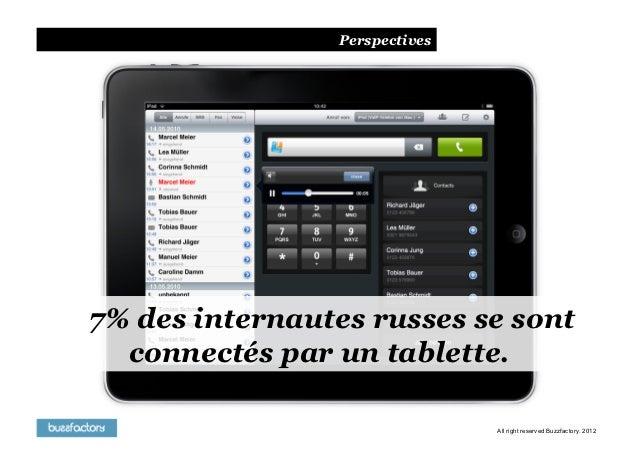 Perspectives7% des internautes russes se sont  connectés par un tablette.                               All right reserved...