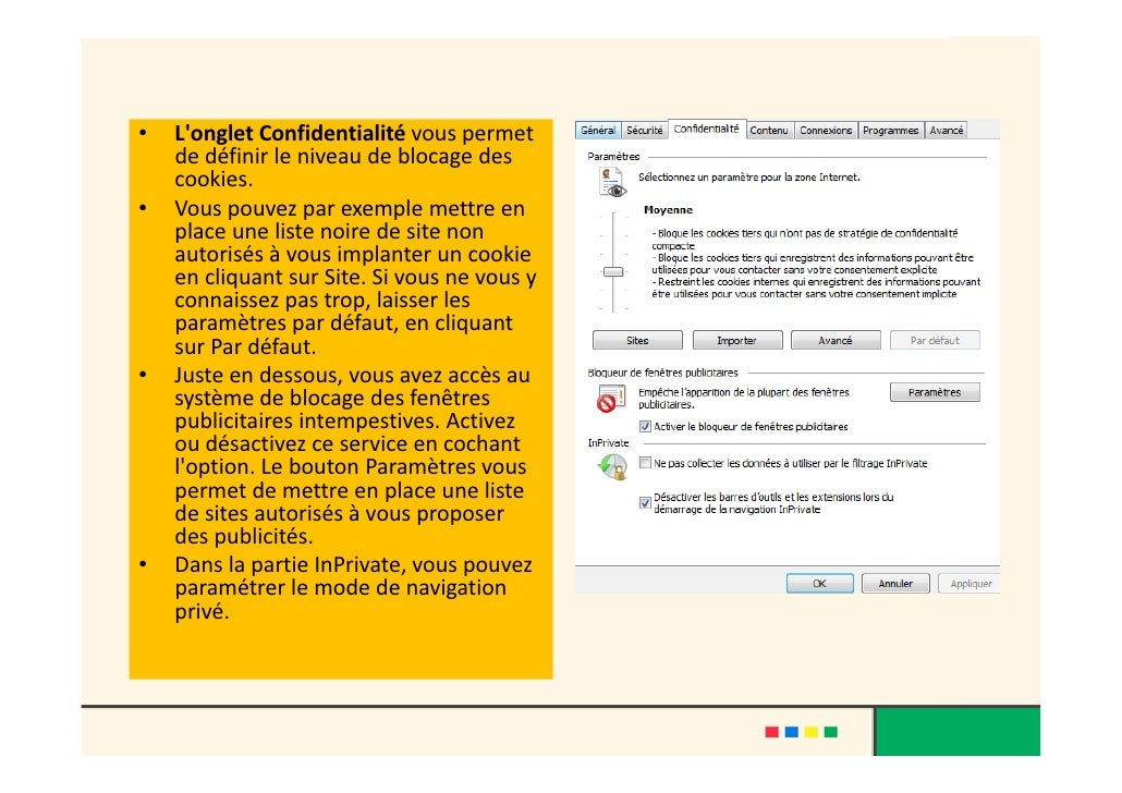 Internet explorer 8 for Blocage fenetre publicitaire