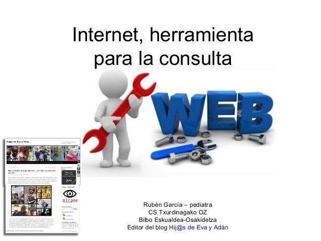 Internet, herramienta   para la consulta            Rubén García – pediatra              CS Txurdinagako OZ          Bilbo...