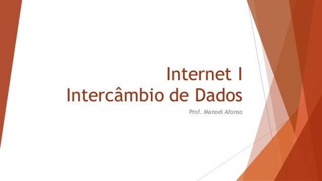 Internet I Intercâmbio de Dados Prof. Manoel Afonso