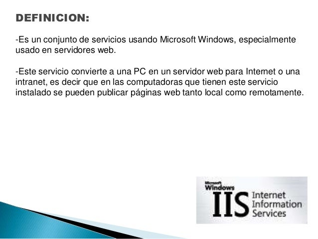 Internet information services(iis) Slide 2