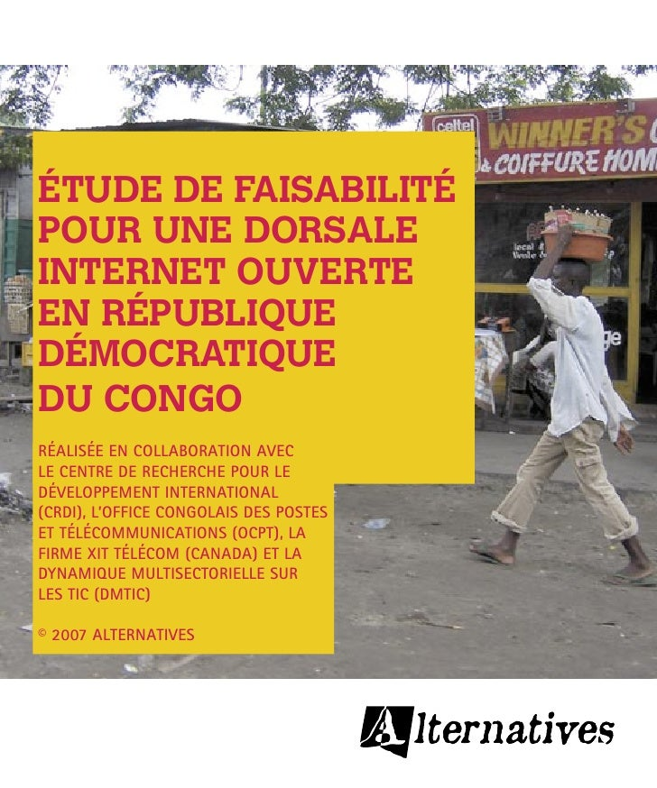 Pour l'instant, l'état déplorable des communications en RDC constitue un frein indéniable au développe- ment et à la lutte...