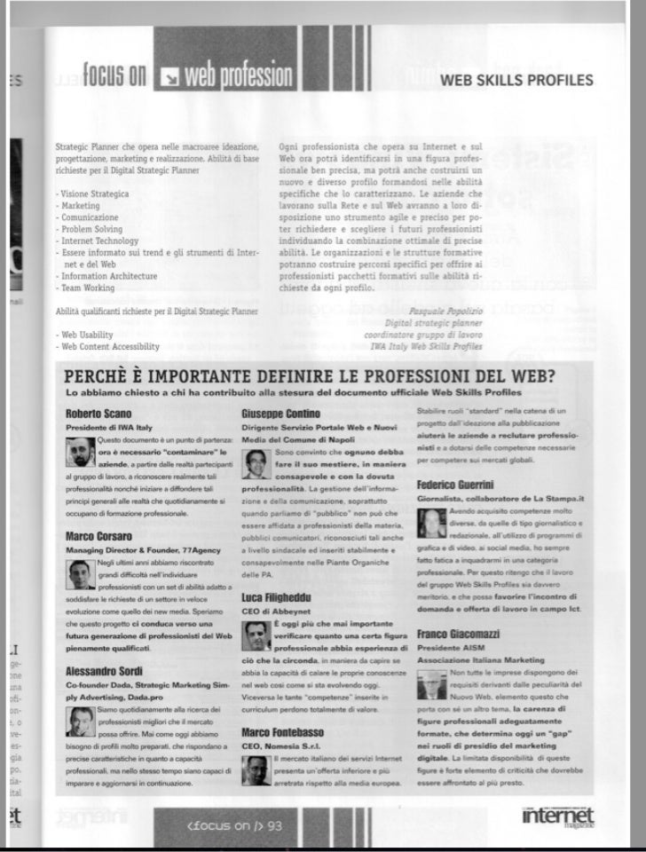 Intervento Internet Magazine