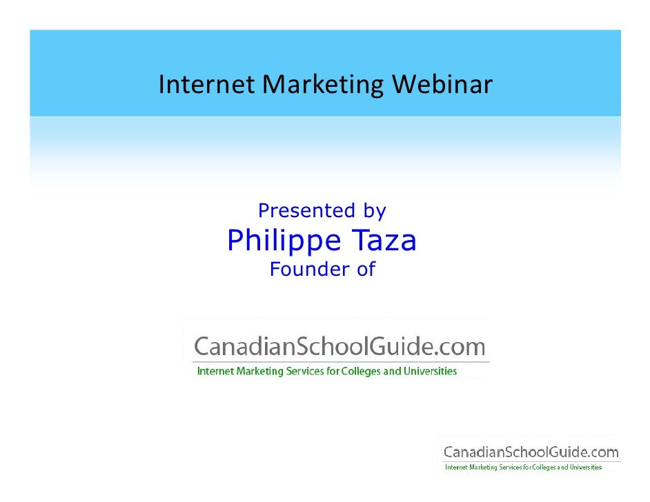 Internet Marketing 101 for Education Marketing