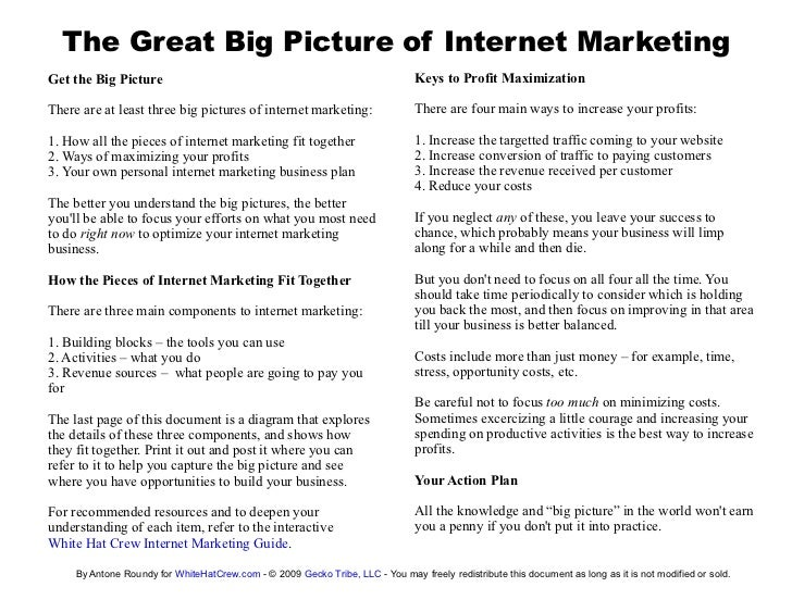The Great Big Picture of Internet Marketing Get the Big Picture                                                           ...