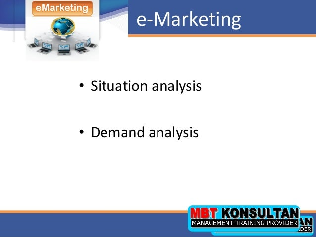 situational analysis and emarketing strategy for easyjet In addition an analysis of the competitive market environment of easyjet will be shown, which includes an overview of easyjet's main competitors and the nature of business in which they operate by illustrating it through the porters-five force model.