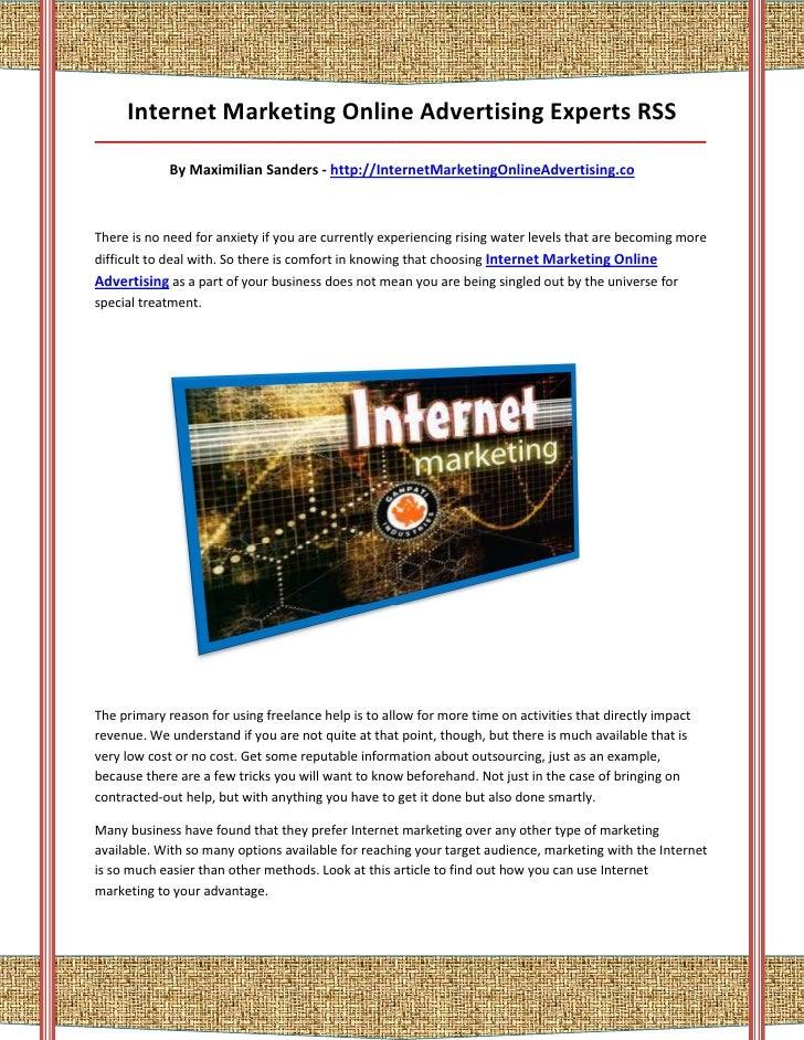Internet Marketing Online Advertising Experts RSS_________________________________________________________________________...