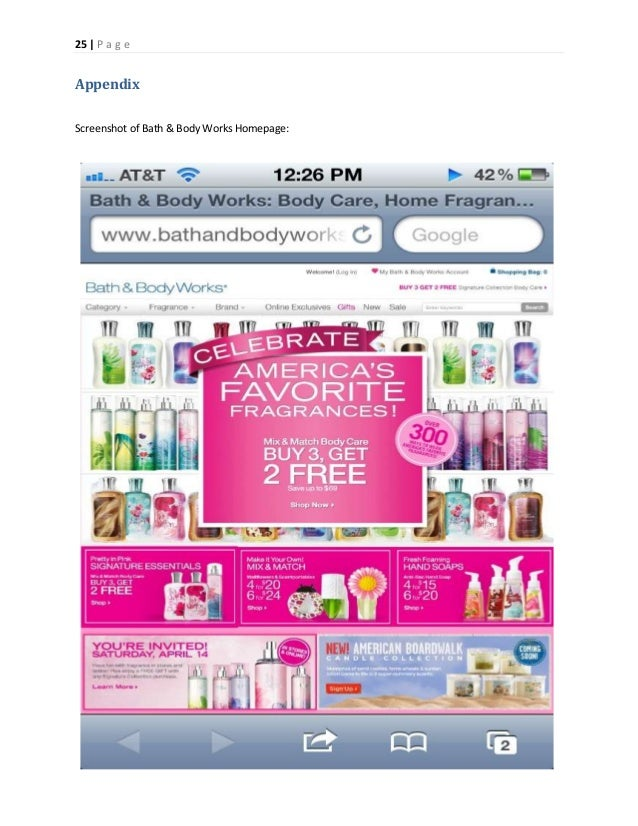bath body works business plan Following the success in q3 fiscal 2012, bath & body works' signature collection, home fragrance and soap & sanitizer business continued to perform well in november.