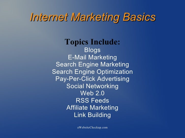 Internet Marketing Presentation