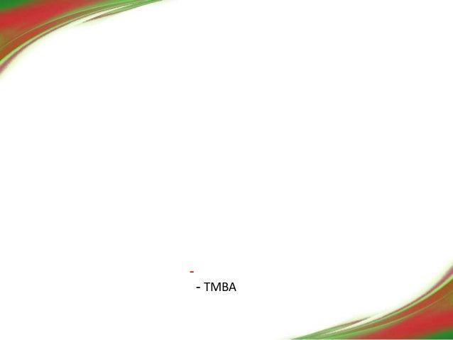 -  - TMBA  –ReWork