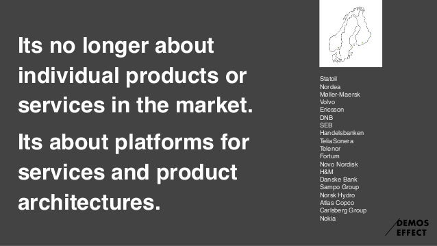 Big Questions for a hyperconnected era: 1. Who owns the users and providers on the dominant platform? 2. What platform are...