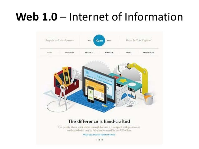 Web 1.0 – Internet of Information