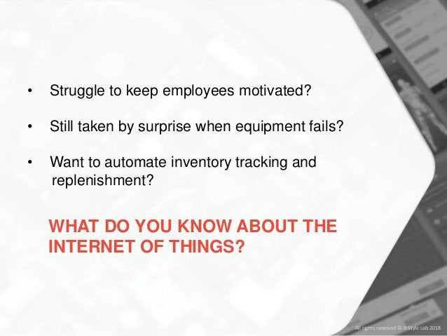 • Struggle to keep employees motivated? • Still taken by surprise when equipment fails? • Want to automate inventory track...