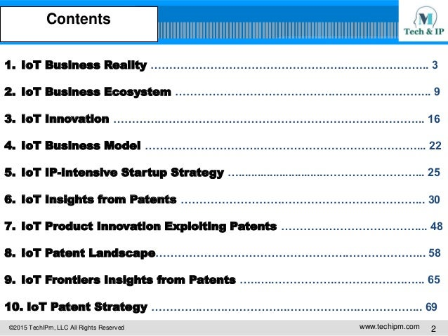 Internet of Things (IoT) Business & Technology & Patent Integrated St… - 웹