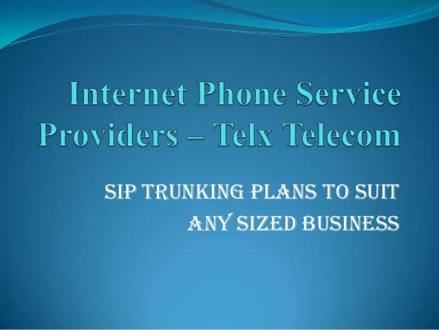 SIP Trunking Plans to Suit Any Sized Business