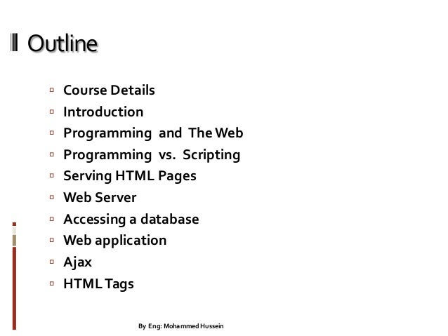 Internet programming lecture 1