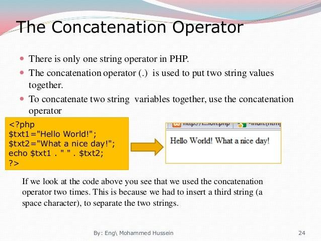 concatenation php