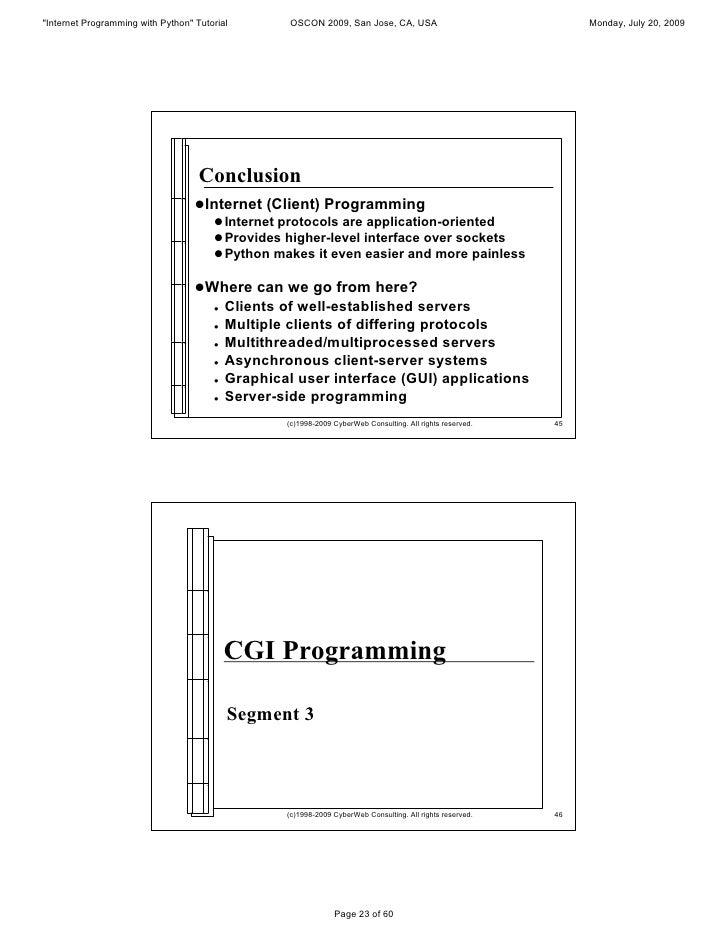 Internet Programming With Python Presentation