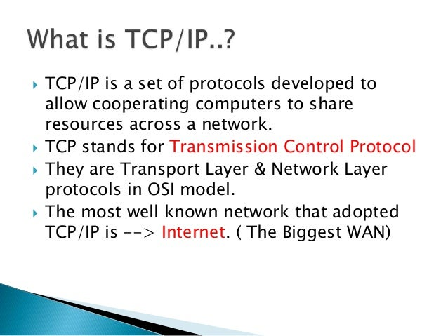 all network protocols ppt