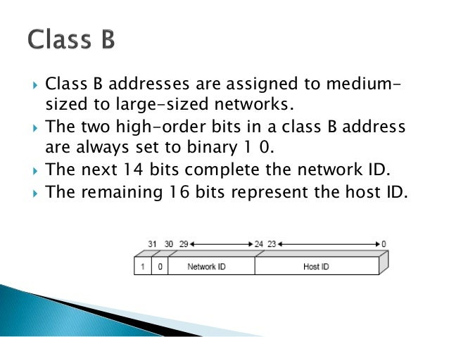 Class D addresses are reserved for IP multicast addresses.  The four high-order bits in a class D address are always se...