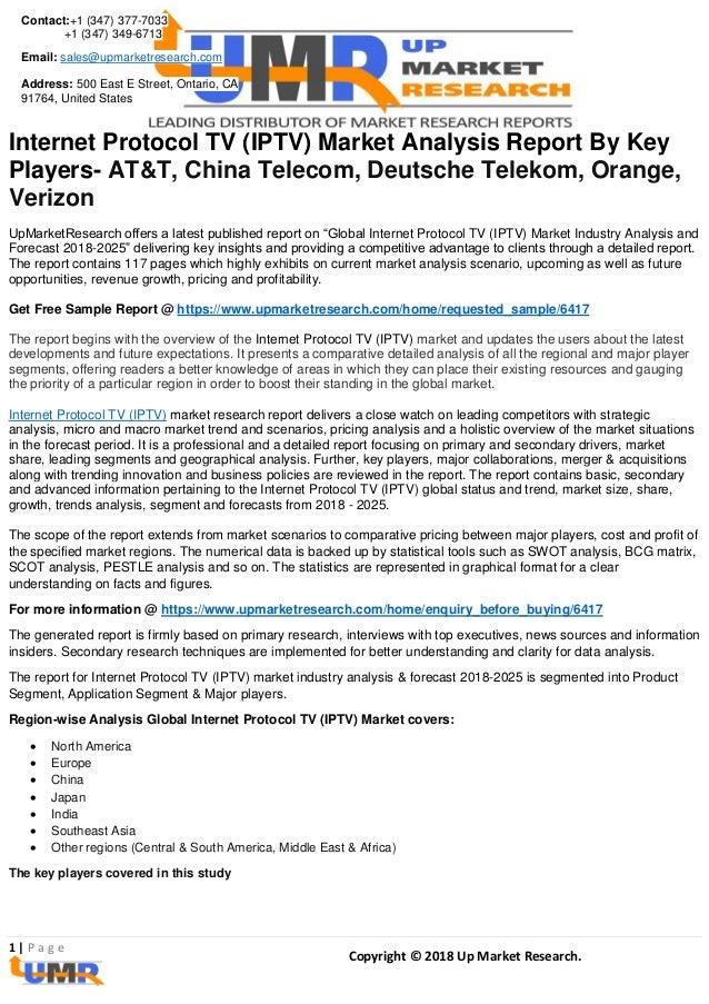 Internet protocol tv (iptv) market analysis report