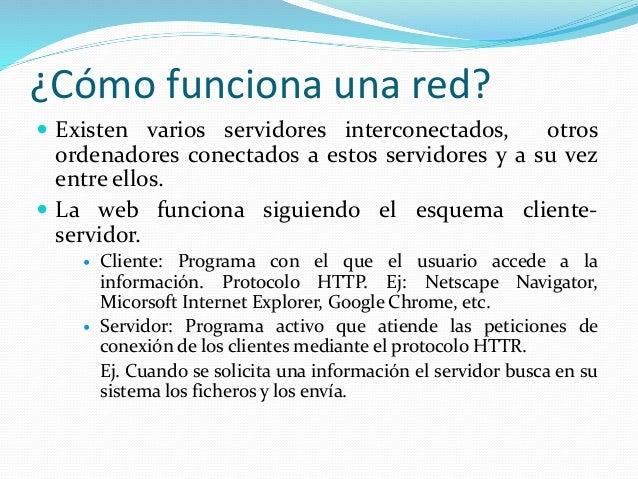 Internet red de redes for Como funciona una depuradora