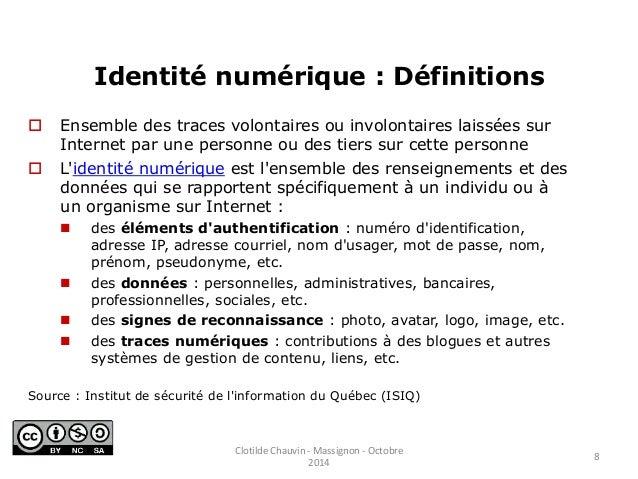 ... 8. Identité numérique ...