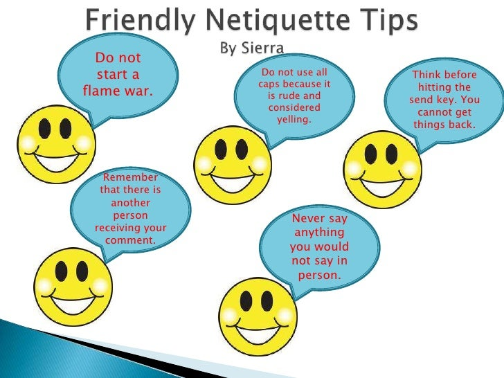 Internet safety netiquette ned for Internet be and you