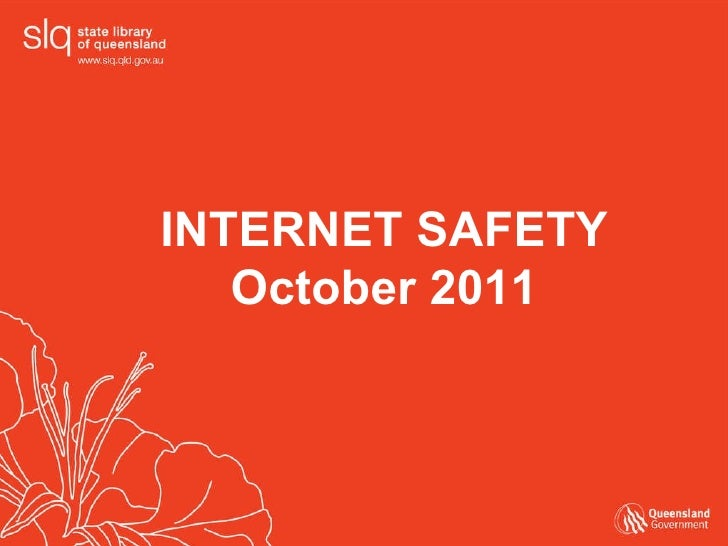 INTERNET SAFETY October 2011