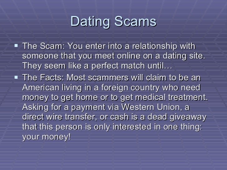 Online dating scam asking for money in Perth