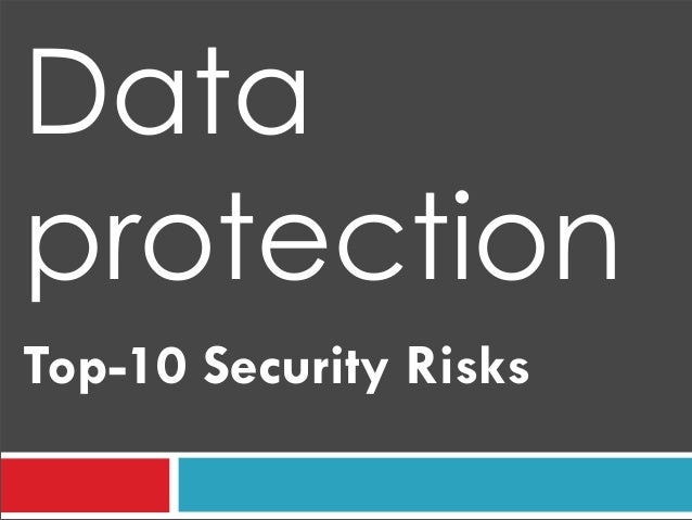 Top-10 Security Risks Data protection