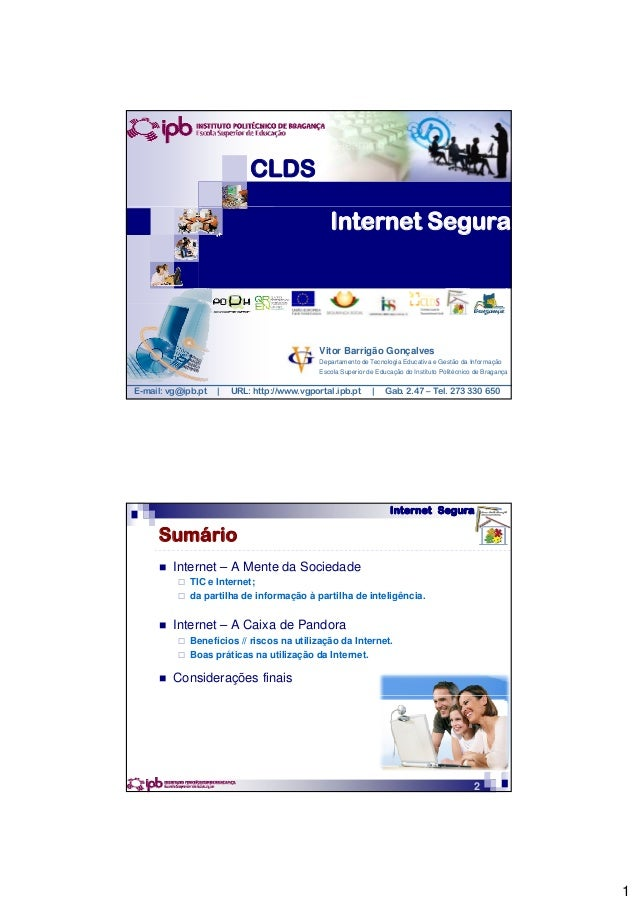 CLDS                                                Internet Segura                                             Vitor Barr...