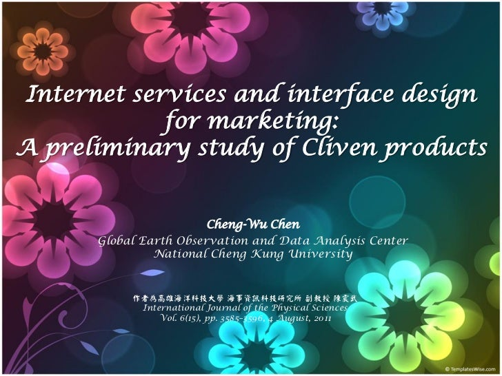 Internet services and interface design            for marketing:A preliminary study of Cliven products                    ...