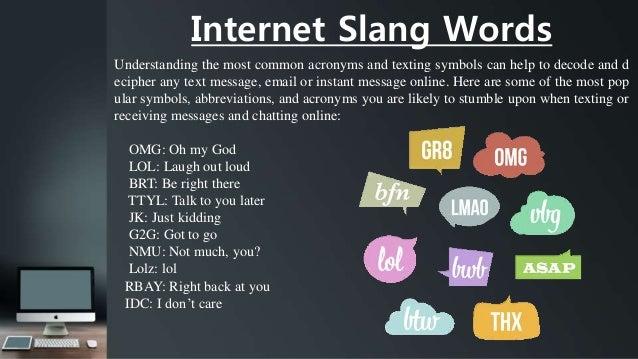 Text message slang symbols