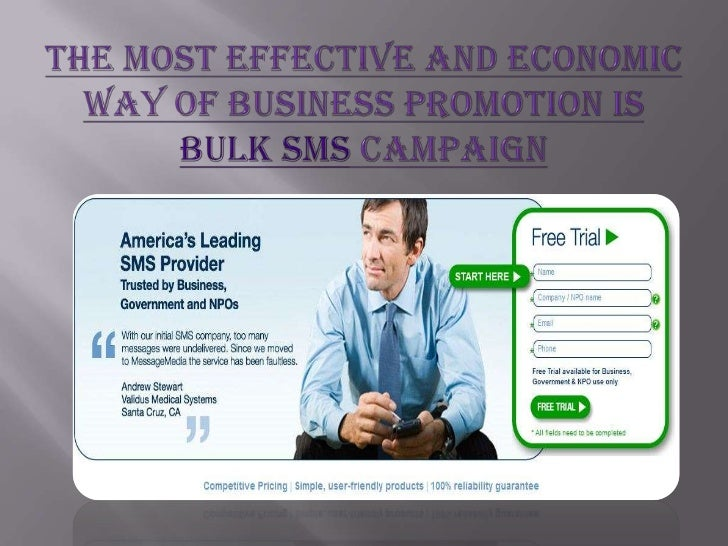 The Most Effective And Economic Way Of Business Promotion Is Bulk Sms Campaign <br />