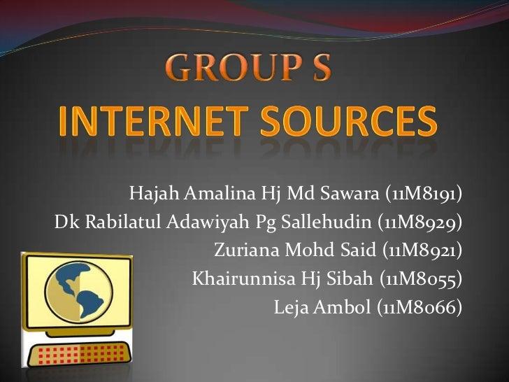 Hajah Amalina Hj Md Sawara (11M8191)Dk Rabilatul Adawiyah Pg Sallehudin (11M8929)                 Zuriana Mohd Said (11M89...