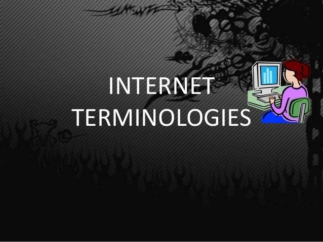 INTERNETTERMINOLOGIES
