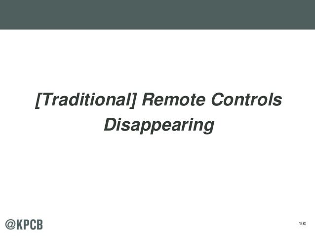 100 [Traditional] Remote Controls Disappearing