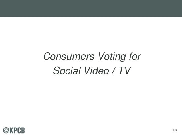 115 Consumers Voting for Social Video / TV