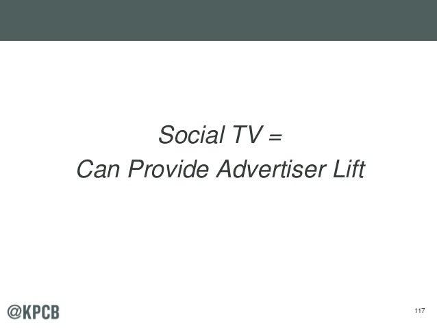 117 Social TV = Can Provide Advertiser Lift