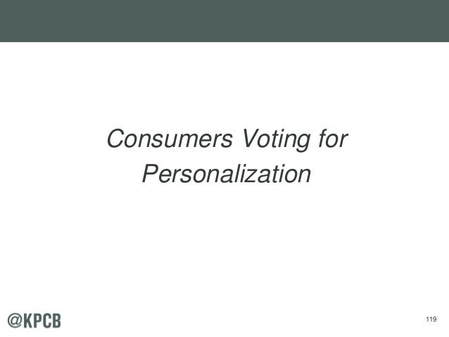 119 Consumers Voting for Personalization