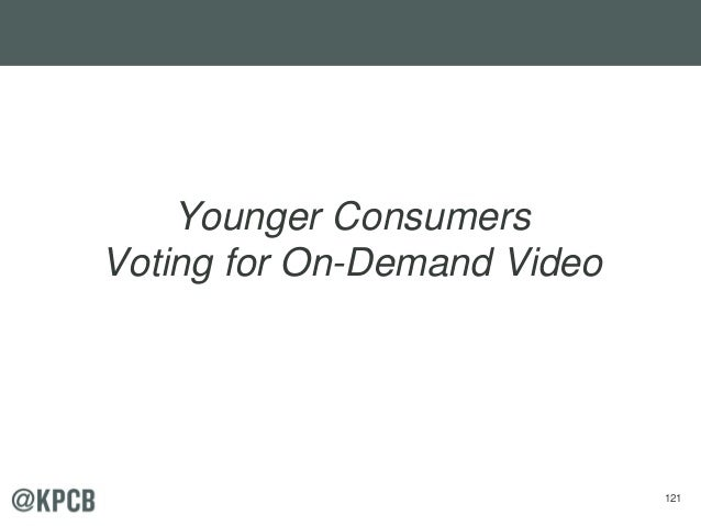 121 Younger Consumers Voting for On-Demand Video