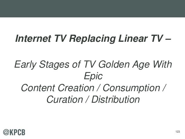 123 Internet TV Replacing Linear TV – Early Stages of TV Golden Age With Epic Content Creation / Consumption / Curation / ...