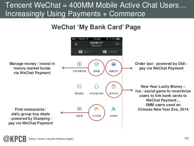 133 WeChat 'My Bank Card' Page Order taxi - powered by Didi - pay via WeChat Payment New Year Lucky Money – fun / social g...