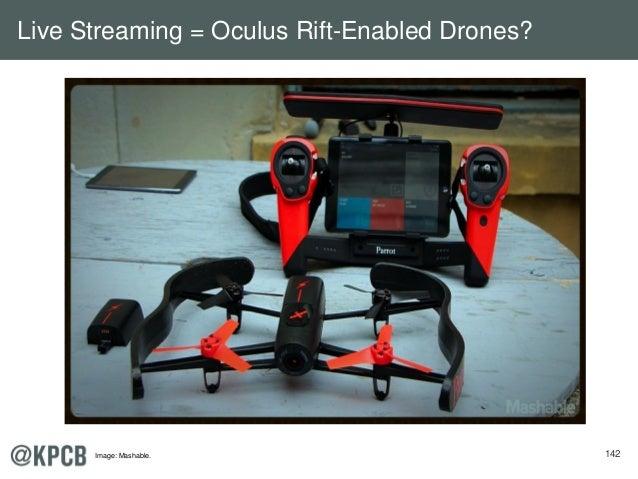 142 Live Streaming = Oculus Rift-Enabled Drones? Image: Mashable.